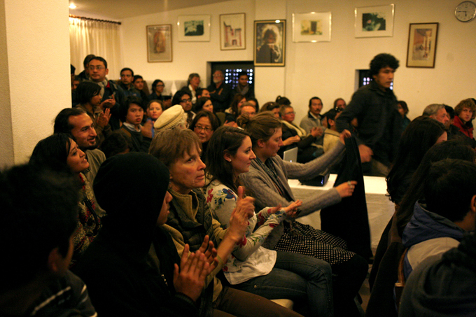 """Great turnout for the screening of """"My Asian Heart""""- a film that follows Philip Blenkinsops' work across Asia."""
