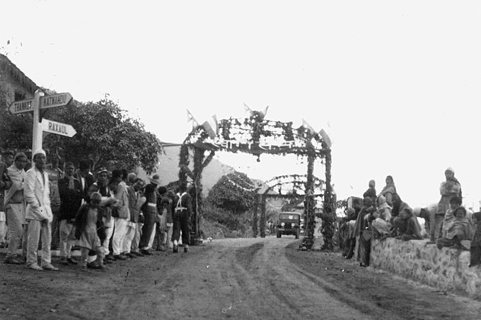 Opening ceremony of the Tribhuvan National Highway.