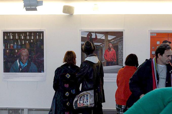 A Weathered People exhibition at Planet Nepal . Paris by photographer NayanTara Gurung Kakshapati and text by Prawin Adhikari at Maison des Metallos, Paris. Photo: Arun Gurung